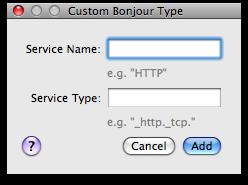 Meerkat Bonjour customization
